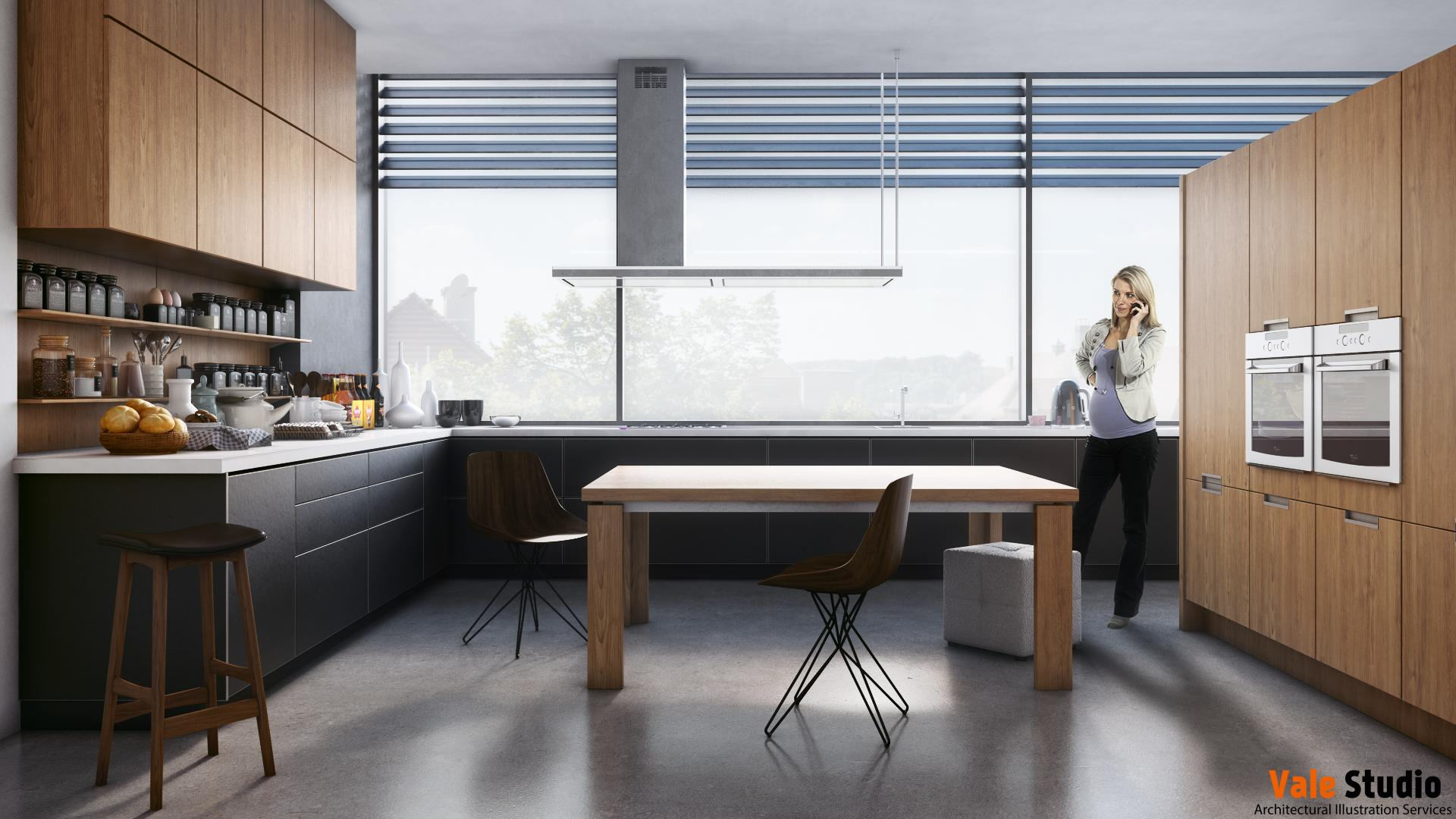 Kitchen Interior Visualization Freelancers 3d