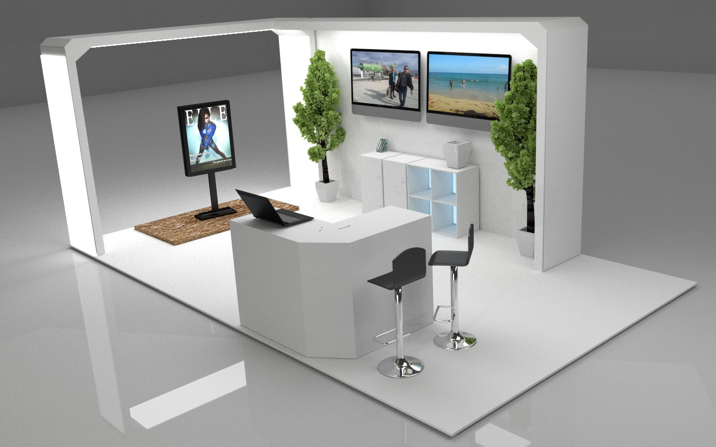 Simple Exhibition Stand : Exhibition stands freelancers 3d