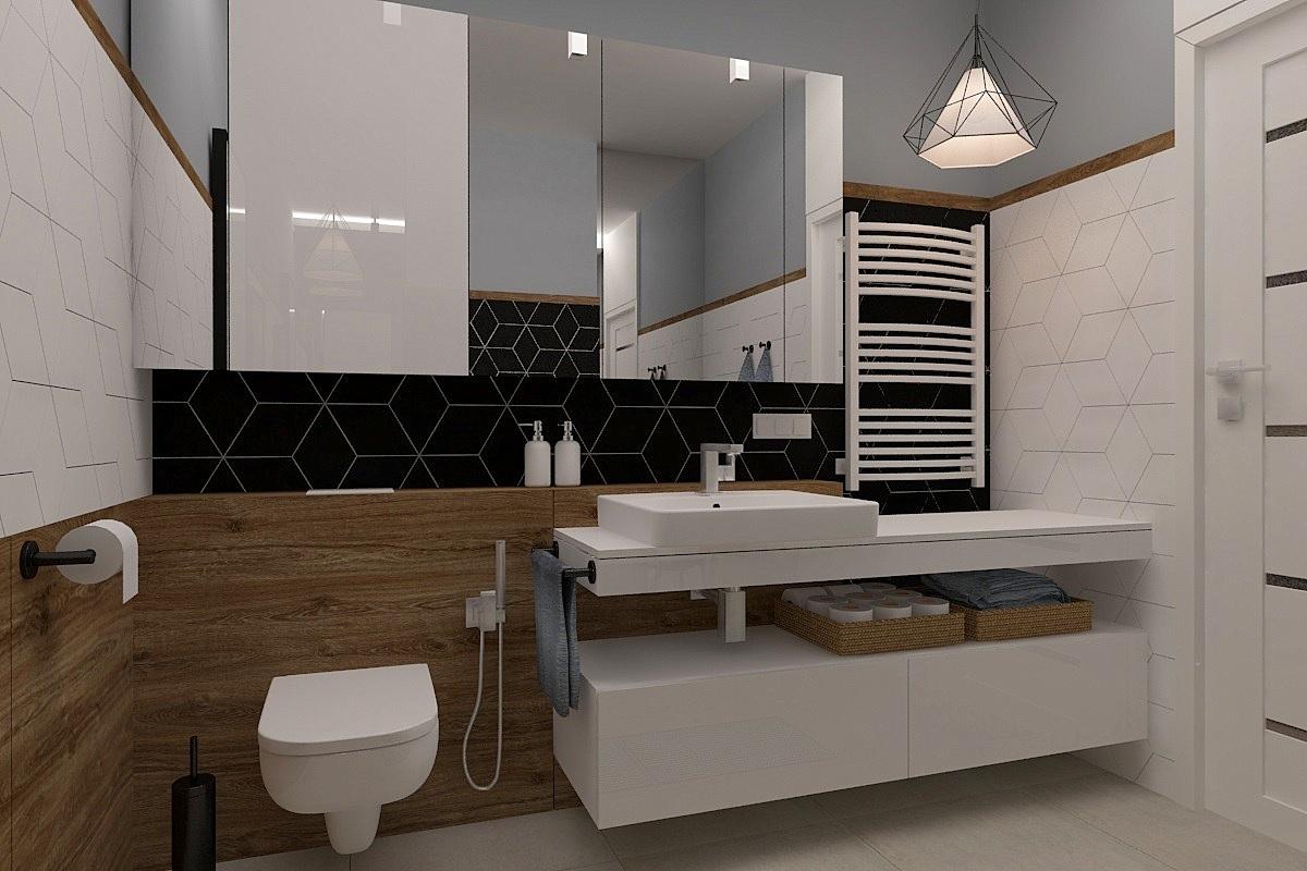 łazienka Styl Nowoczesny Freelancers 3d