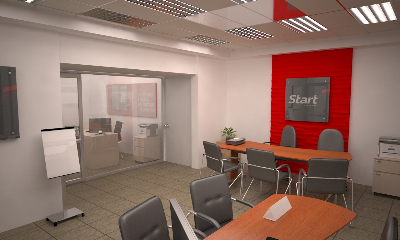 Car Rental Office Freelancers 3d