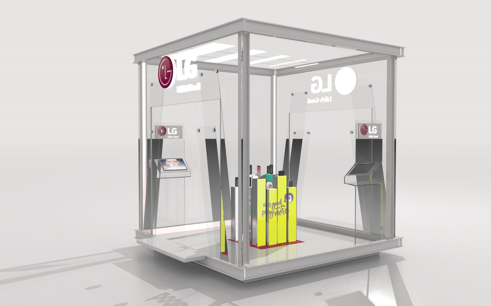 LG Booth 3D model