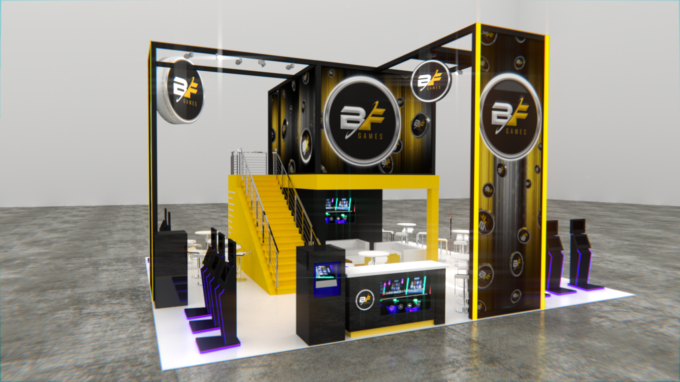 booth project 3D model