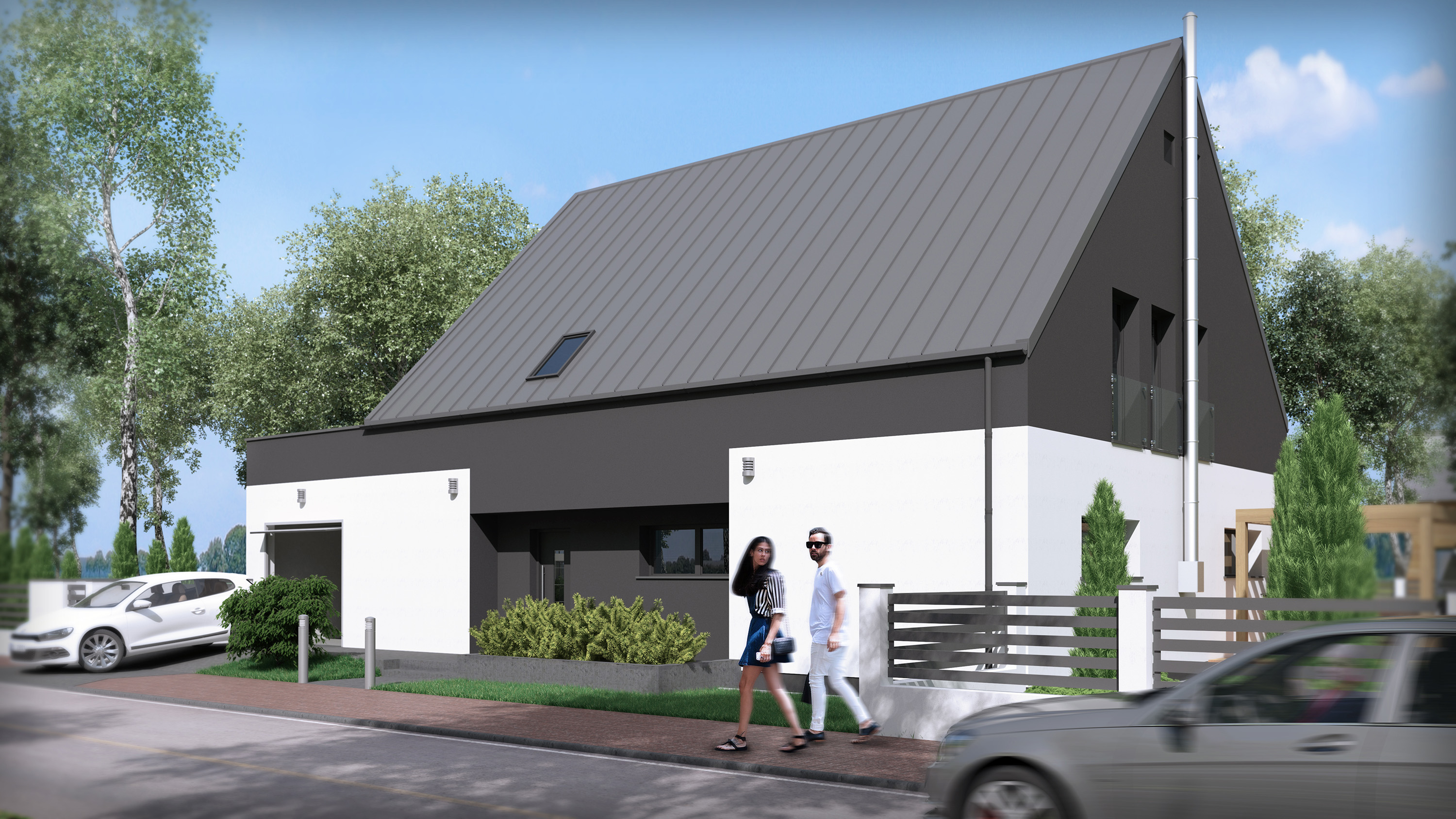 visualization of single family house in siemianowice śl poland