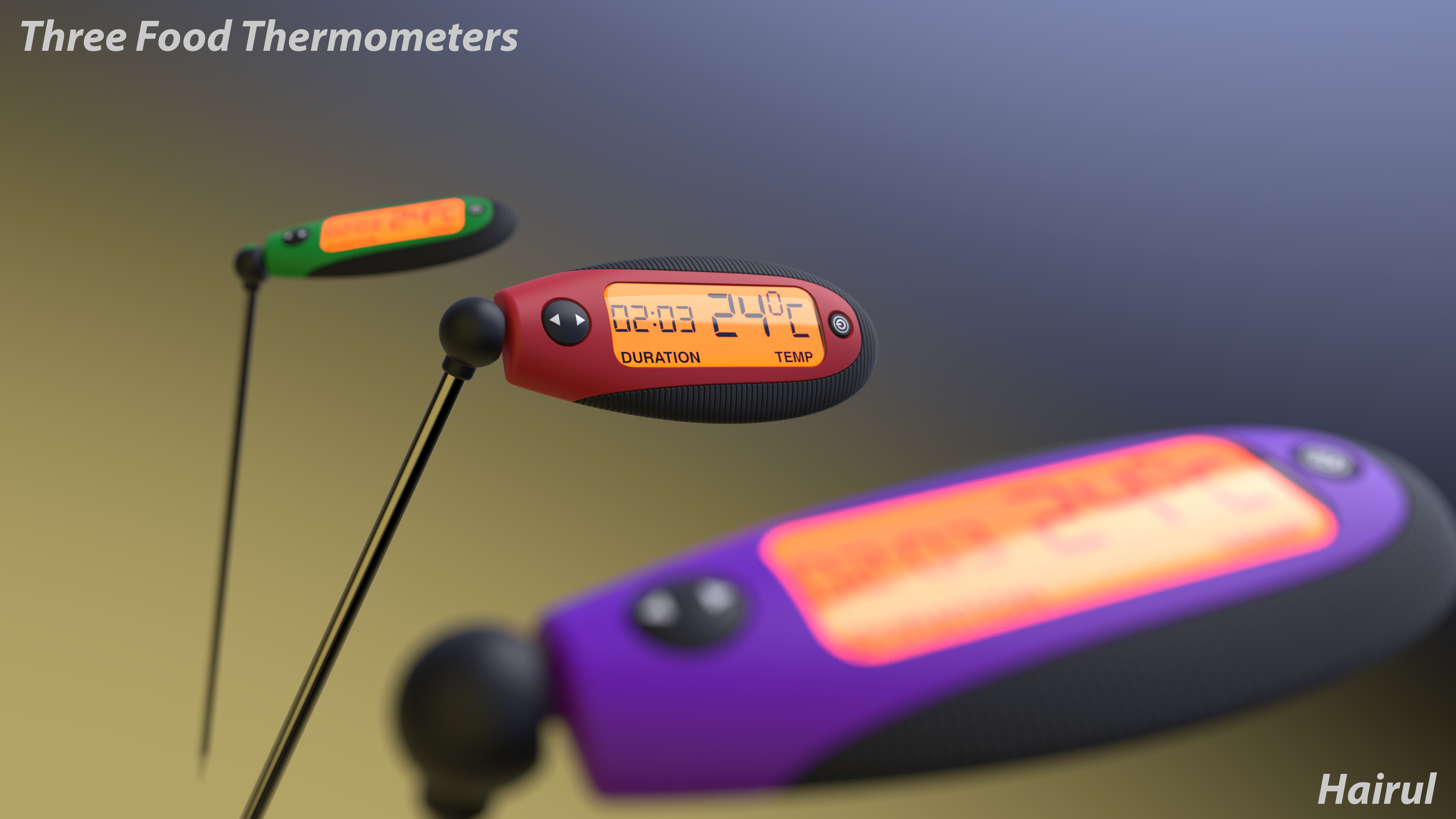 product modeling and visualisation lancers d product modeling and visualisation 3d model food thermometer self initiative project