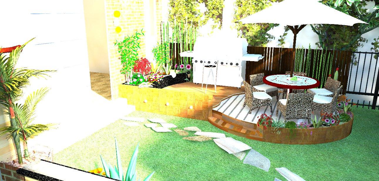 Perfect Create Garden Design In Real Landscape Visualization 3D Model   Backyard  Design