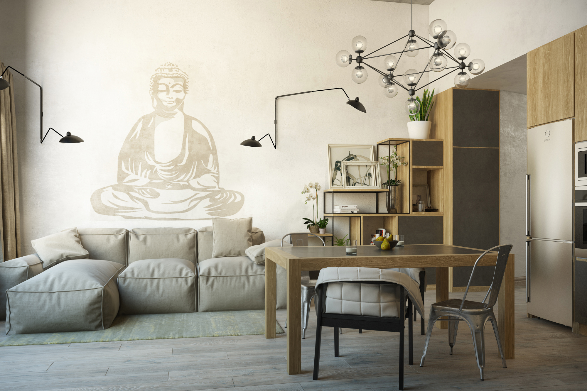 Zen inspired interior design | Freelancers 3D
