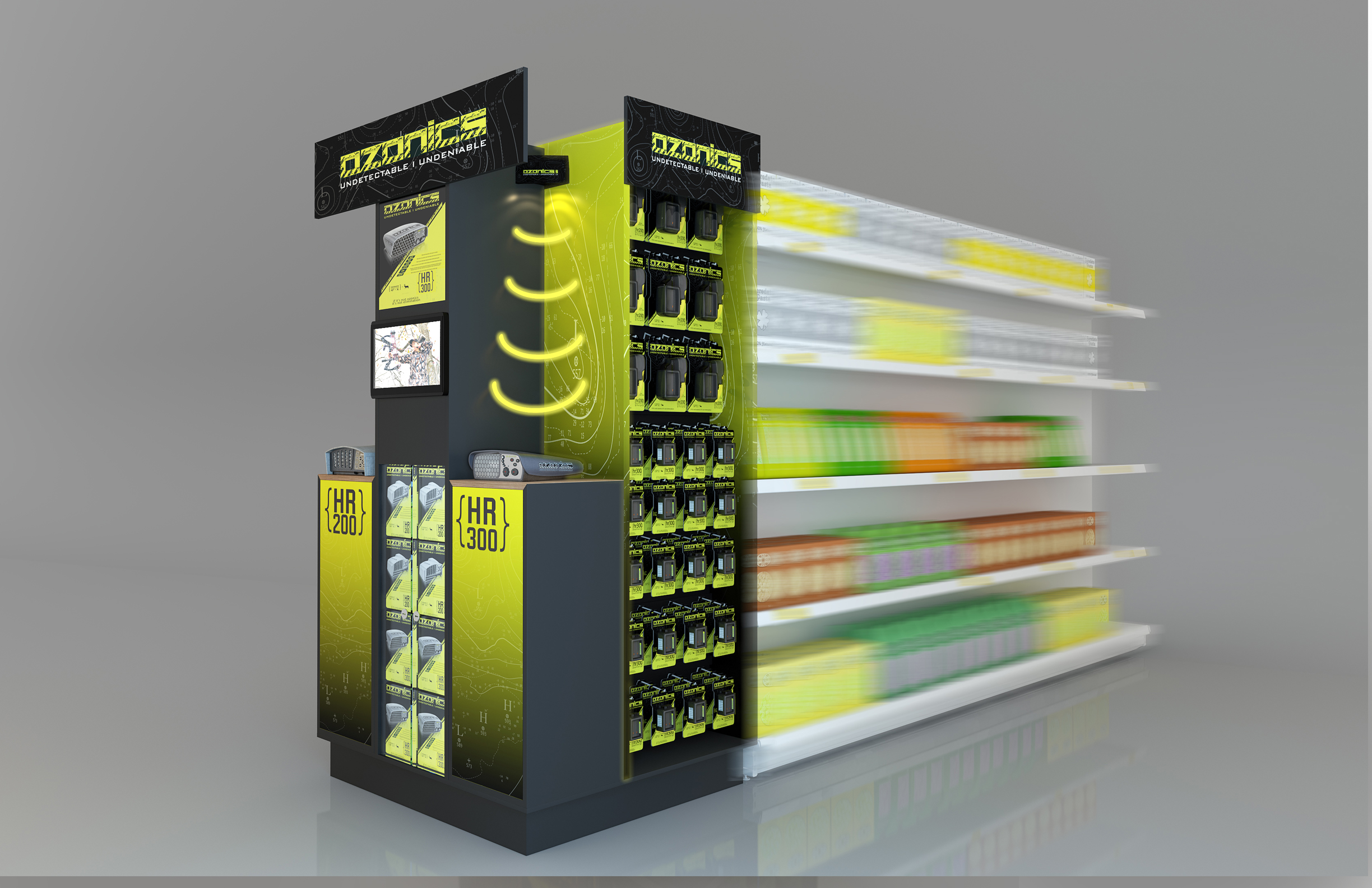 Shopping Mall Endcaps and Showcases 3D model - Ozonic Endcap 01