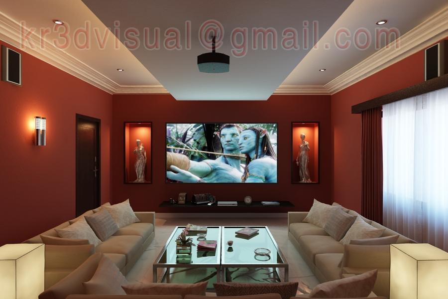 Exterior And Interior Designs Freelancers 48D Extraordinary Home Theatre Interior Design Exterior