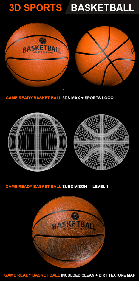 3D Basket Ball  3D model