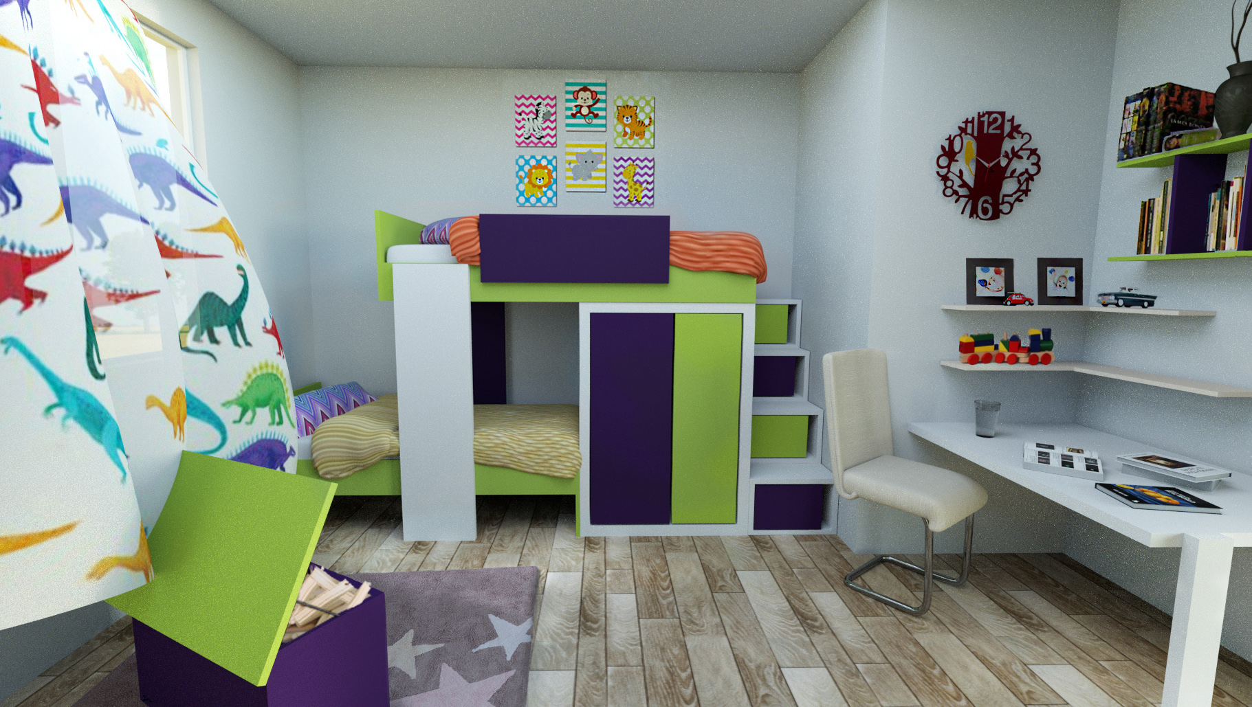 Childrens bedroom 3D model