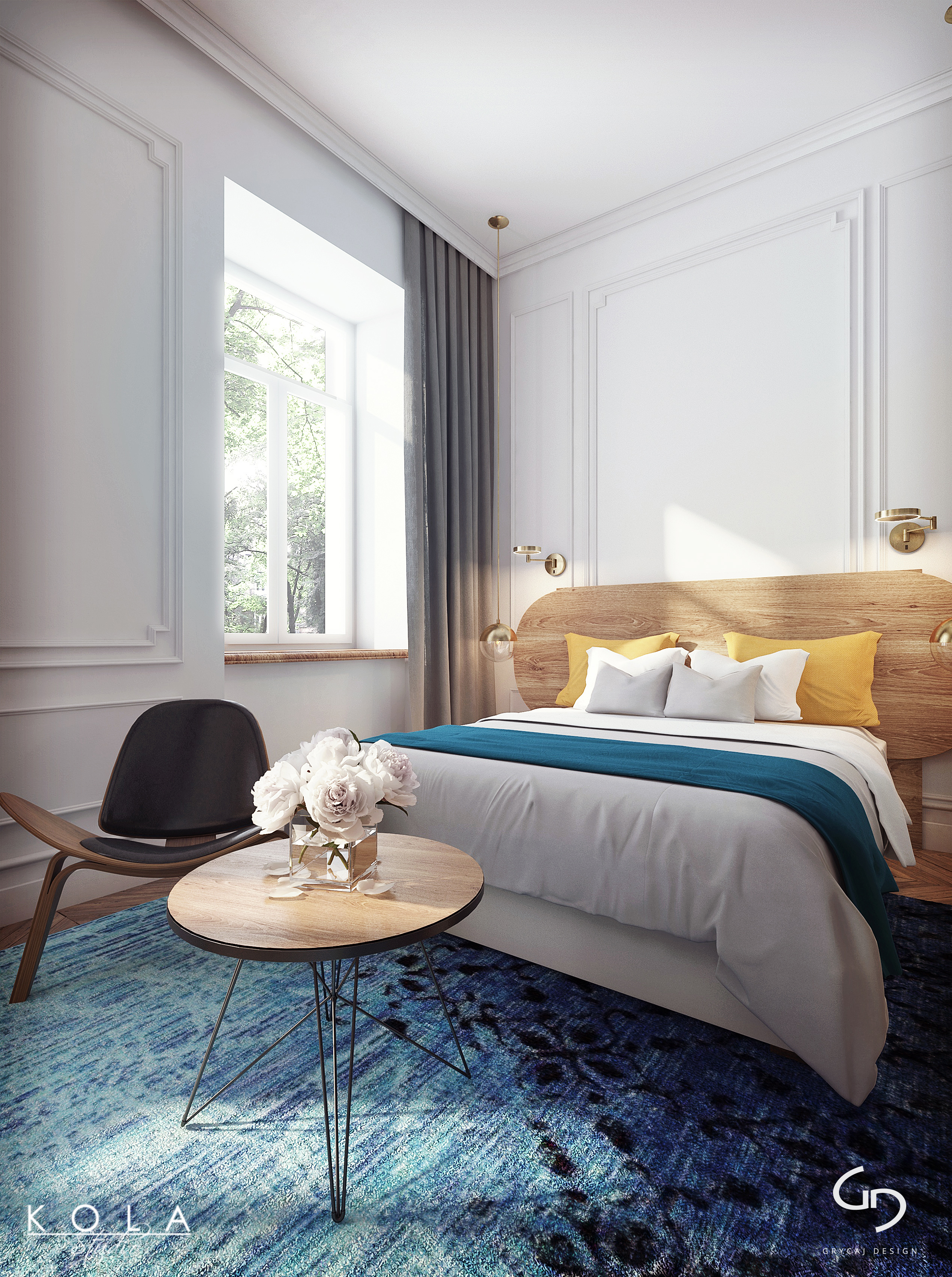 visualizations of a boutique hotel room | freelancers 3d