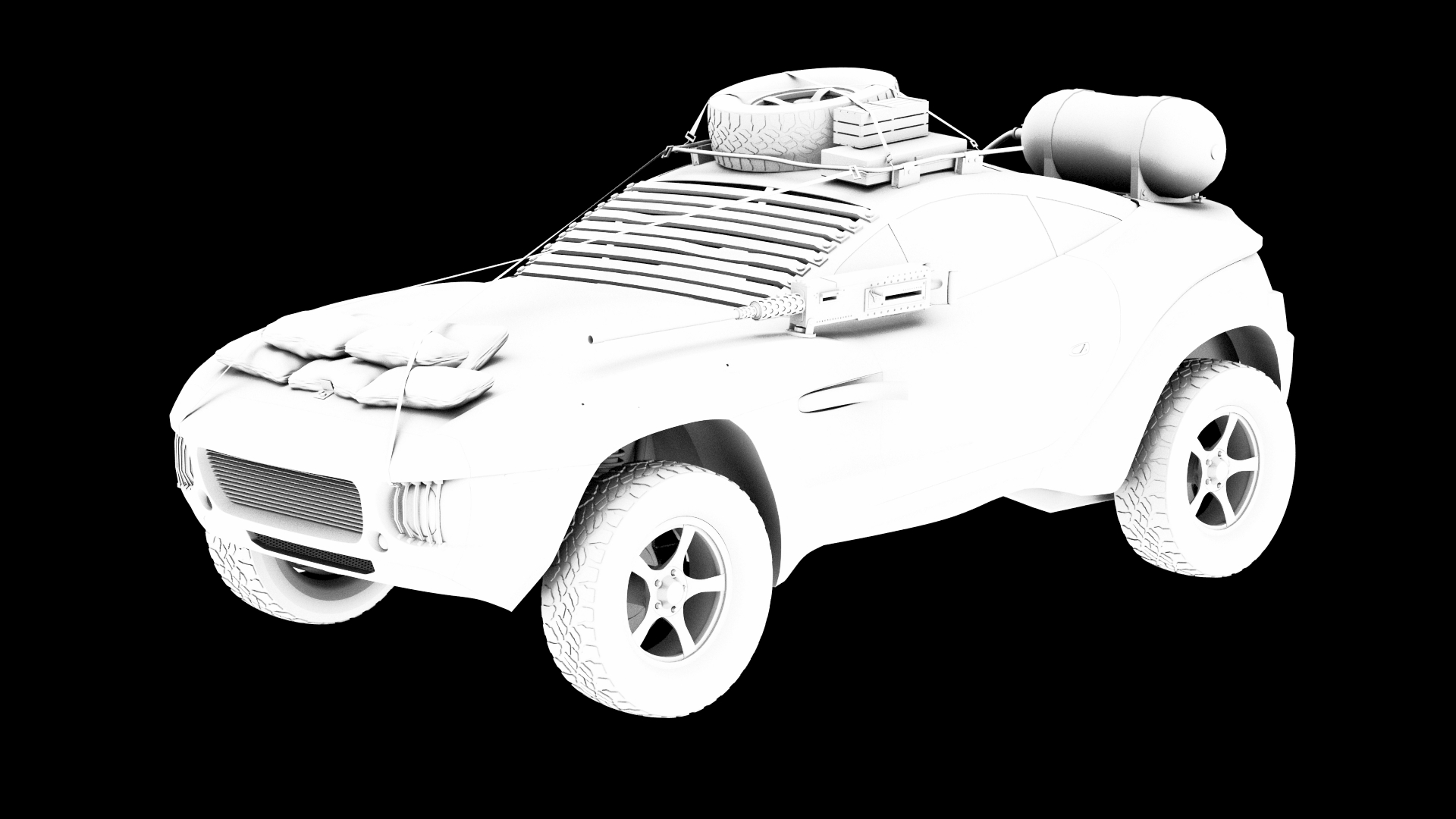 Madmax 3D model - Ambient Occlusion - MadMax