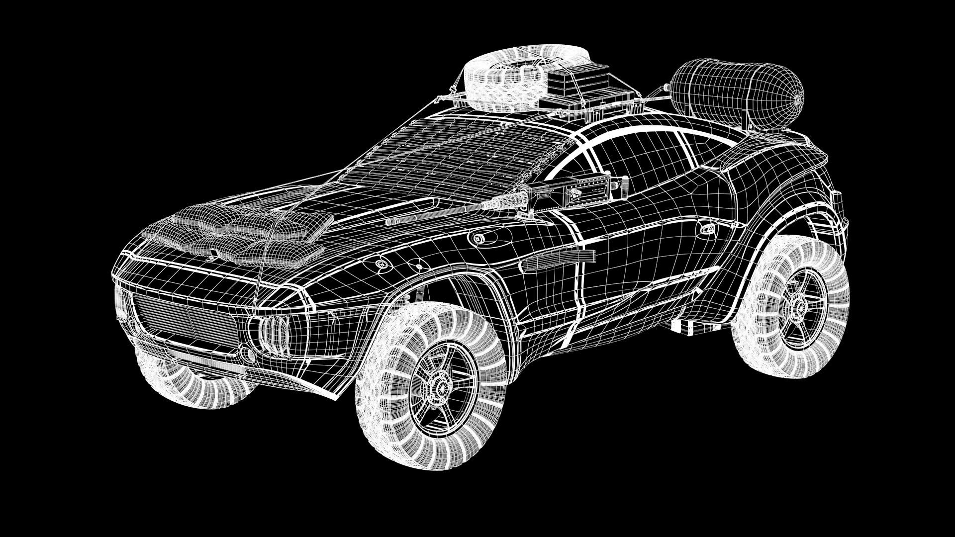 Madmax 3D model - Wireframe - MadMax