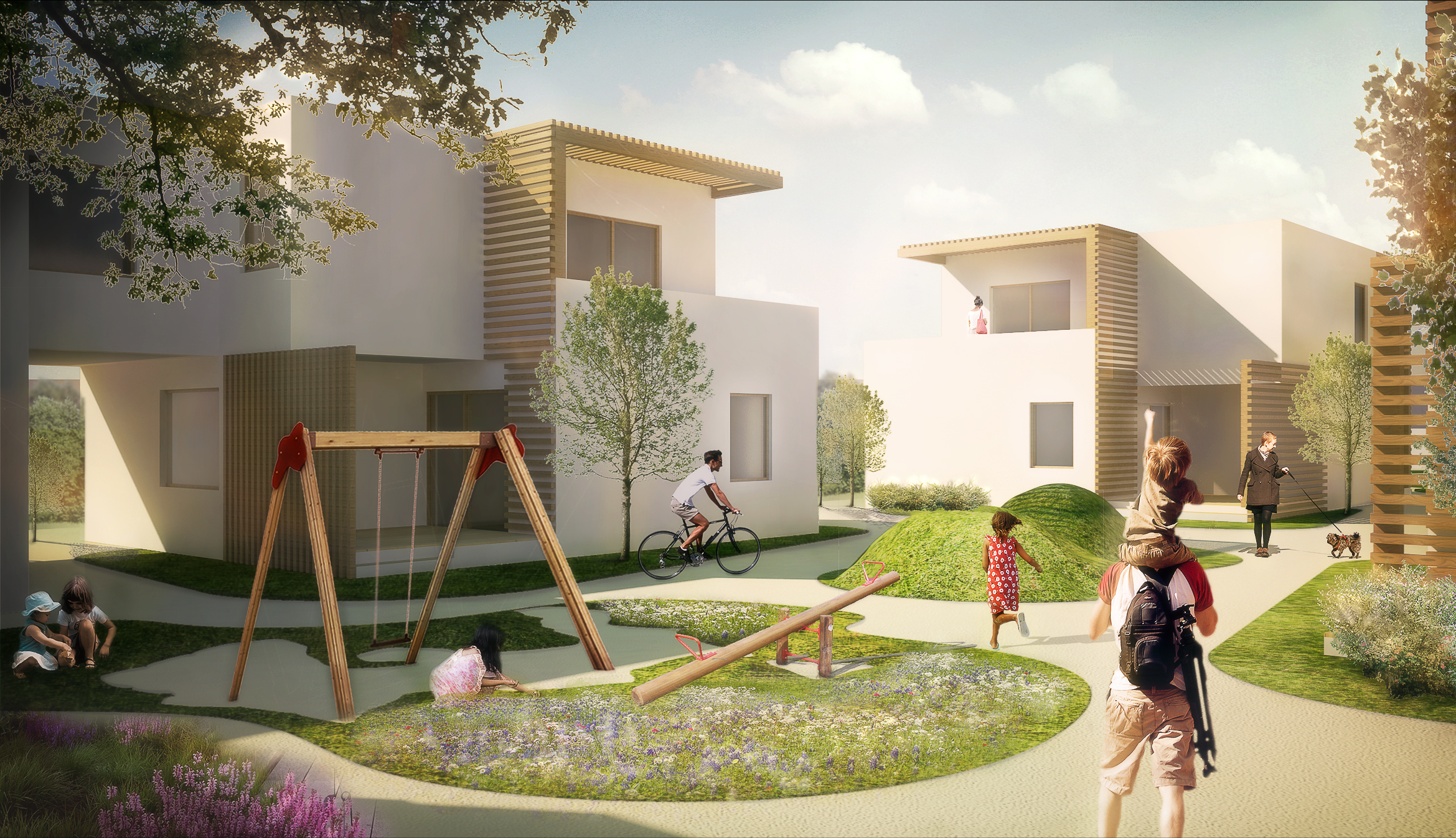 Eco Green Village : Social Housing urban planning proposal