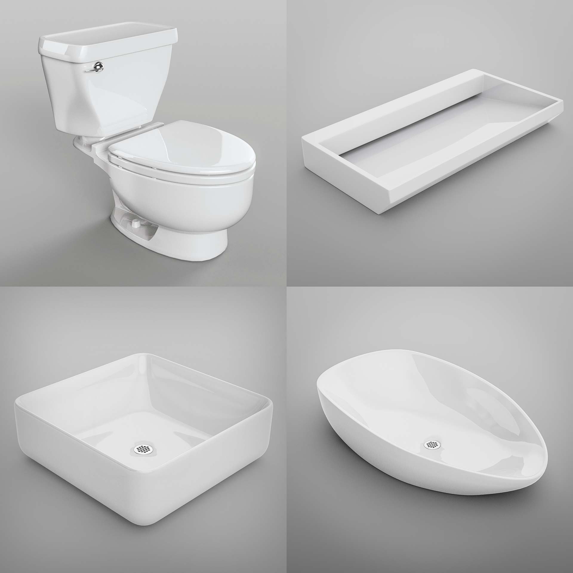 Product Visualisations 3D Model   A Series Of Ceramic Bathroom Fixtures  Created For A Client,