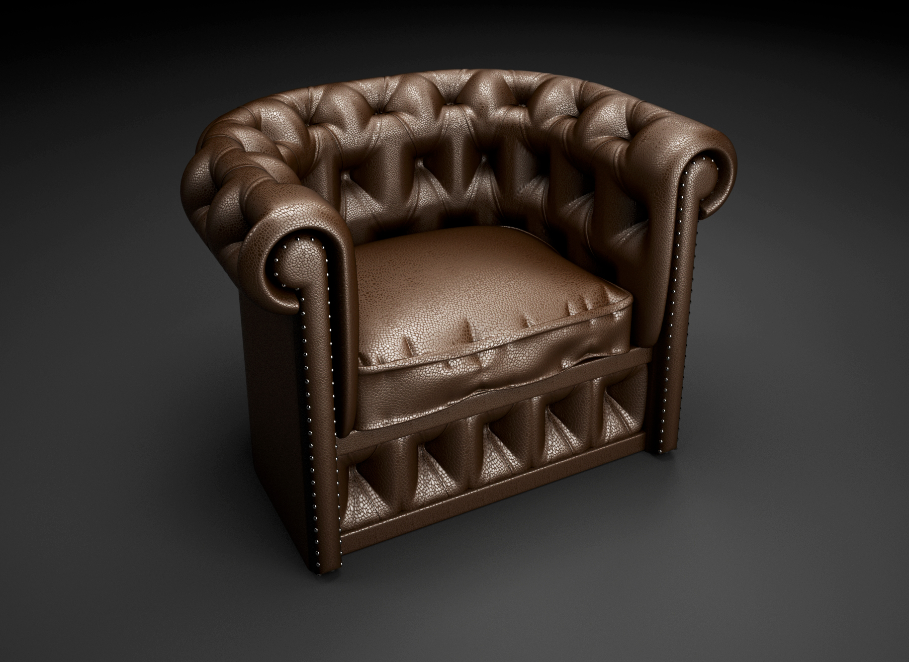 Object renders 3D model - Chesterfield chair