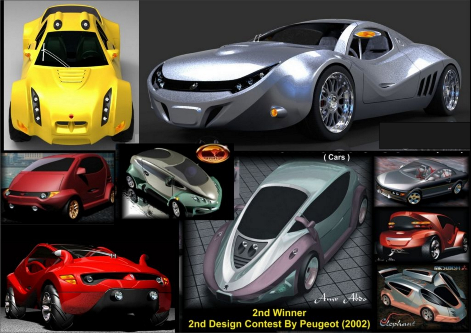 Collection of my Car Designs | Freelancers 3D