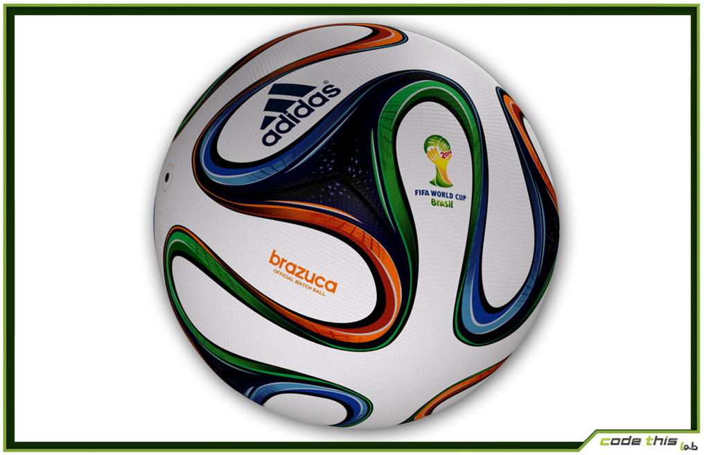 Brazuca Official Soccer Ball World Cup 2014 3D model