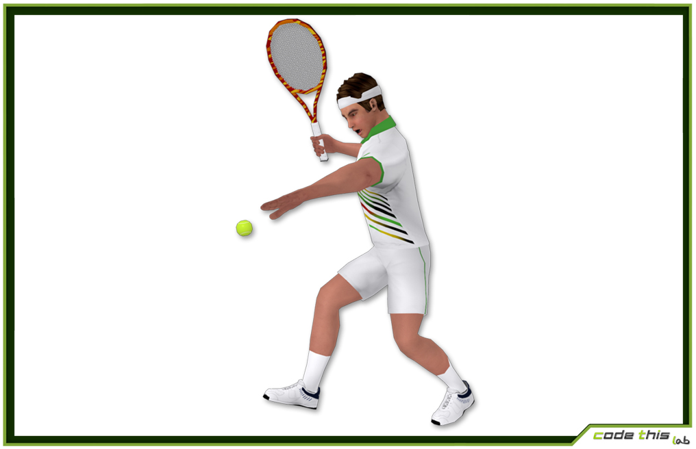 White Tennis Player For Videogames (5912 tris) 3D model
