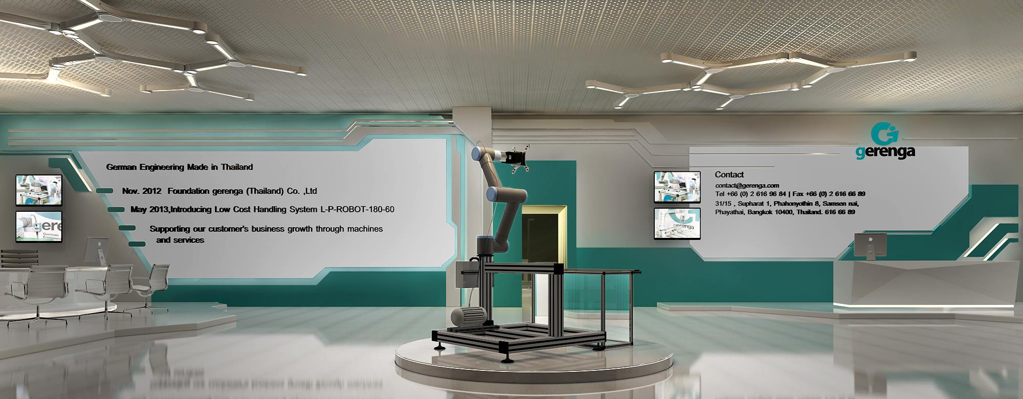 Futuristic Set Design for a Robotics Company,Gerenga from Germany 3D model - Floor One,mainly recipetion area