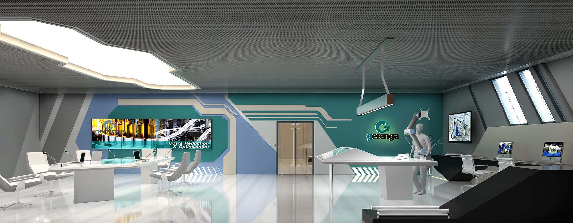 Futuristic Set Design for a Robotics Company,Gerenga from Germany 3D model - Floor 2,Brainstorming area