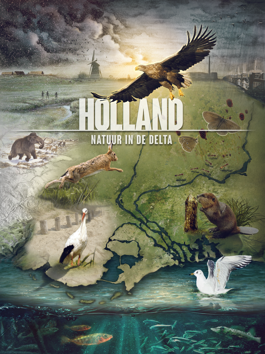 Holland - The Living Delta 3D model - Illustration with Adobe Photoshop