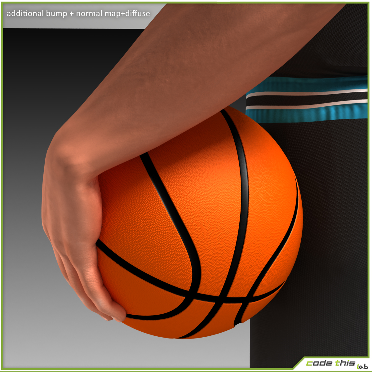 White Basketball Player (CG) 3D model