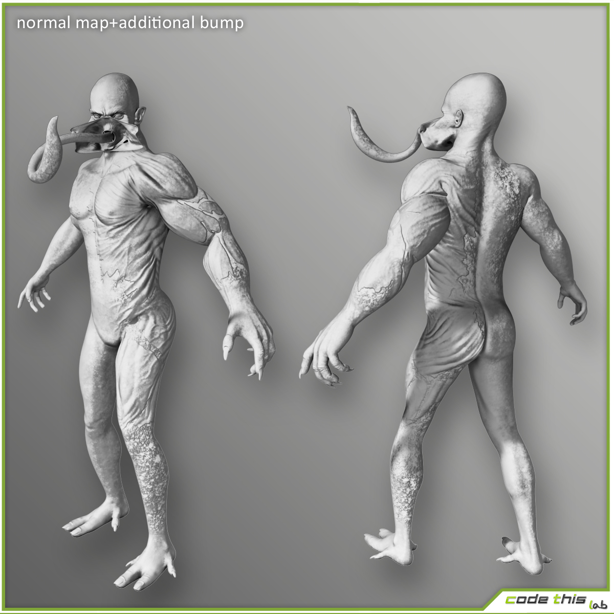 Genetic Monster for videogames 3D model