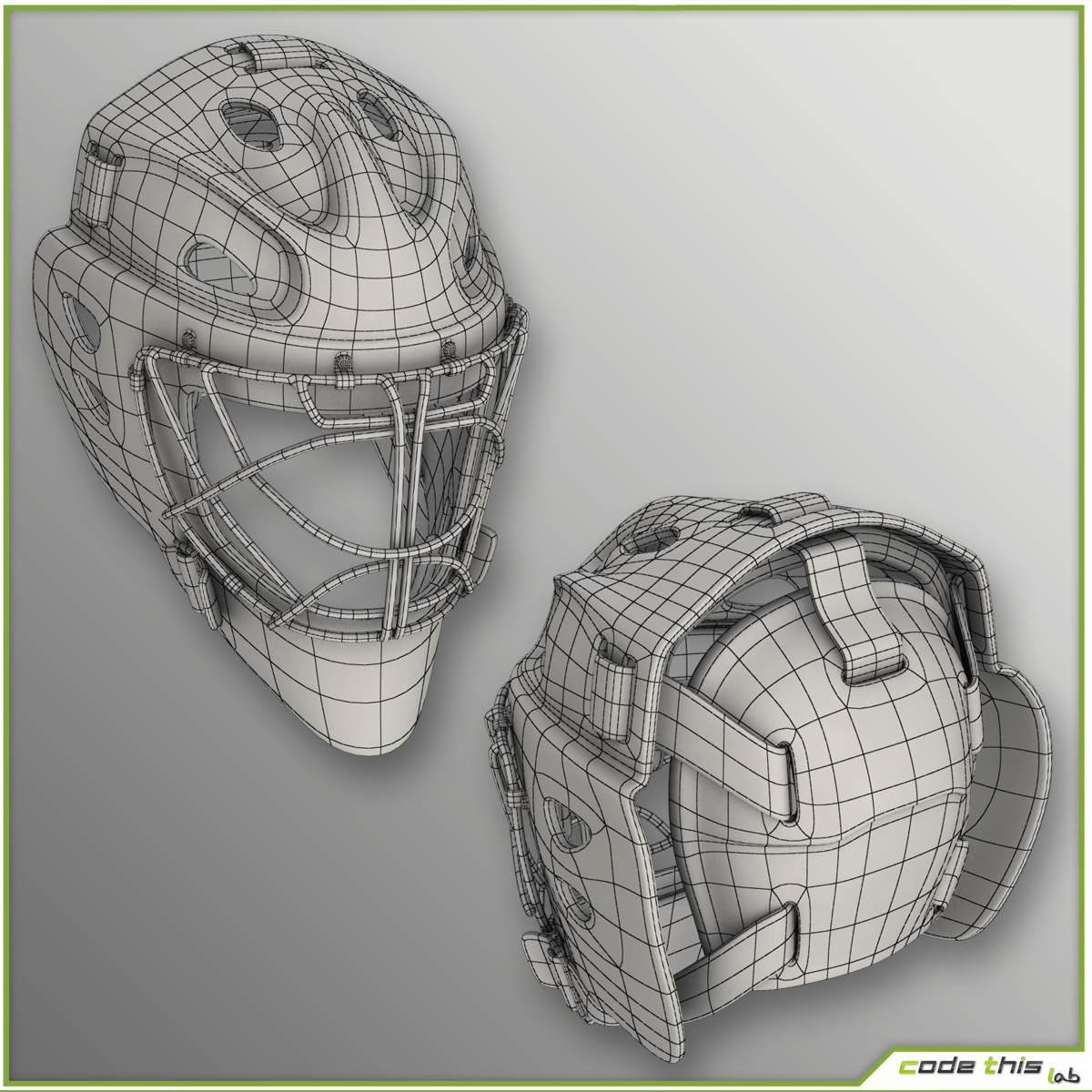 Hockey Player Goalkeeper CG 3D model