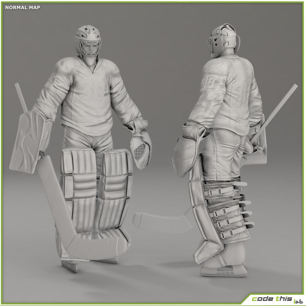 Hockey Player Goalkeeper CG | Freelancers 3D