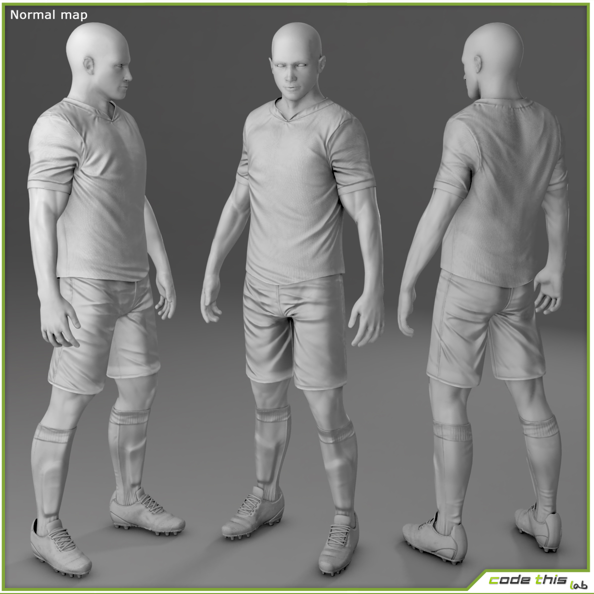 Soccer Player Russia CG 3D model