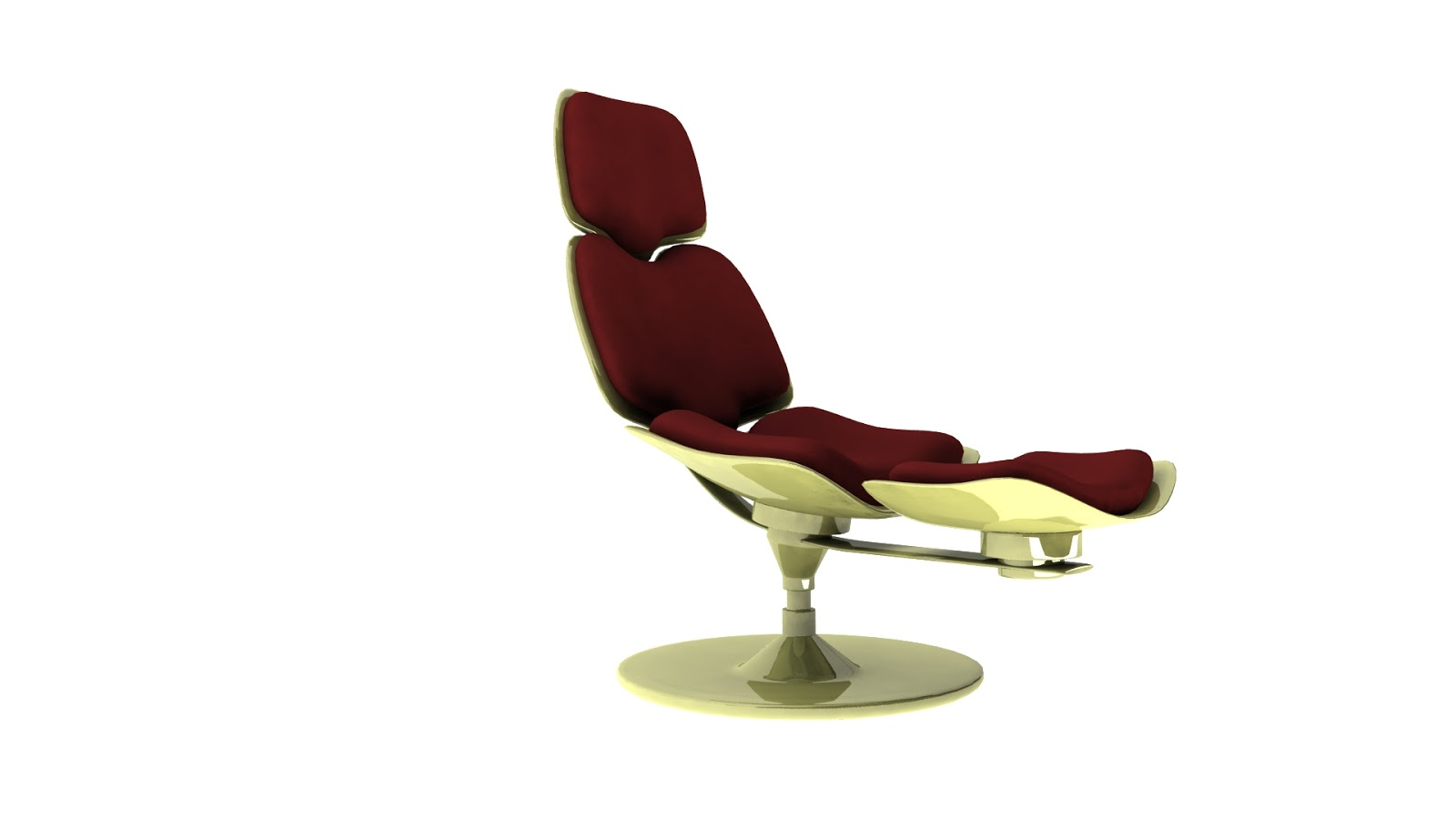 Luxury themed lounge chair for a saloon in Indonesia  3D model