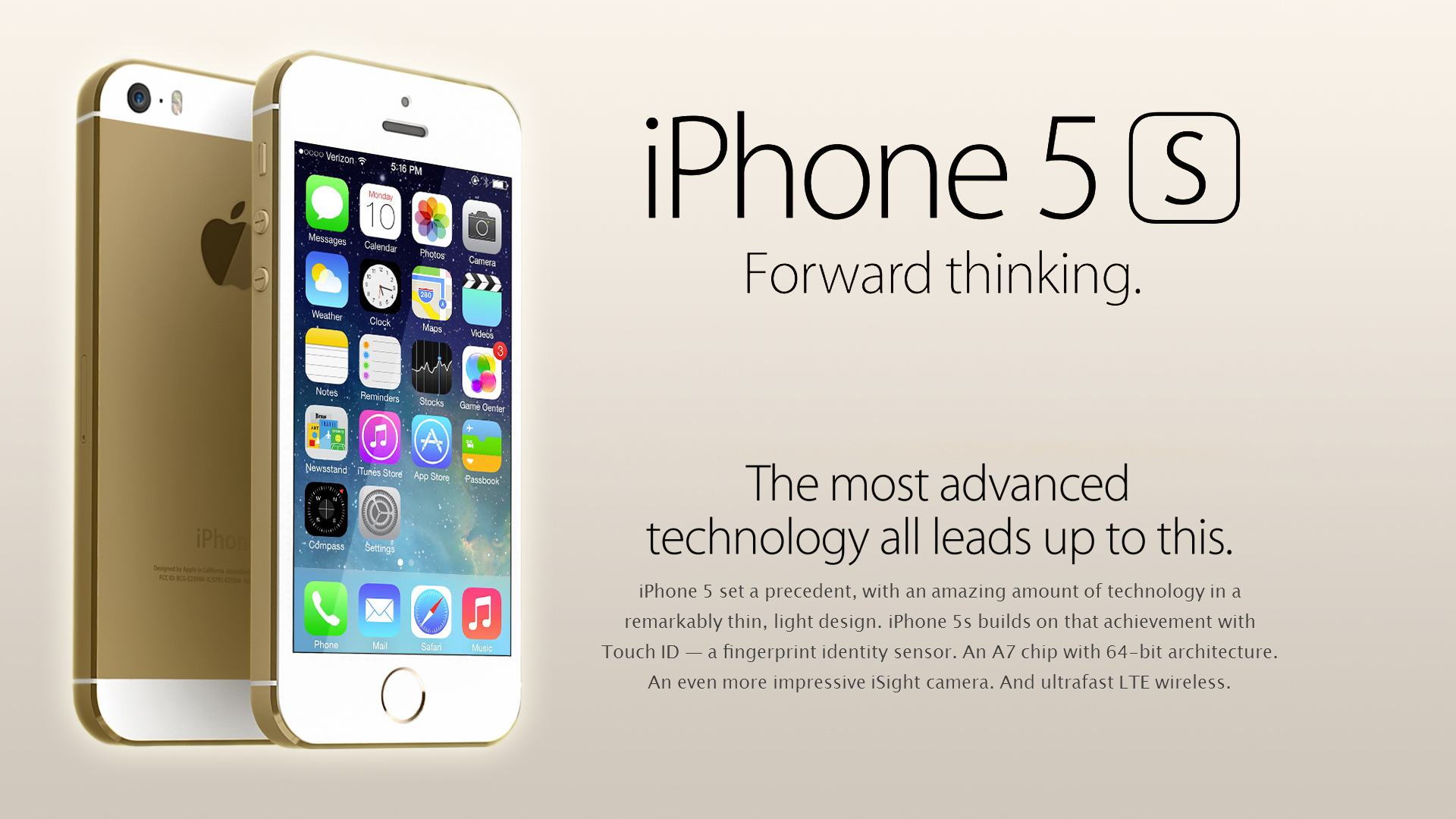 Iphone 5/5S advertising 3D model - Visualization of Iphone 5s based on official materials
