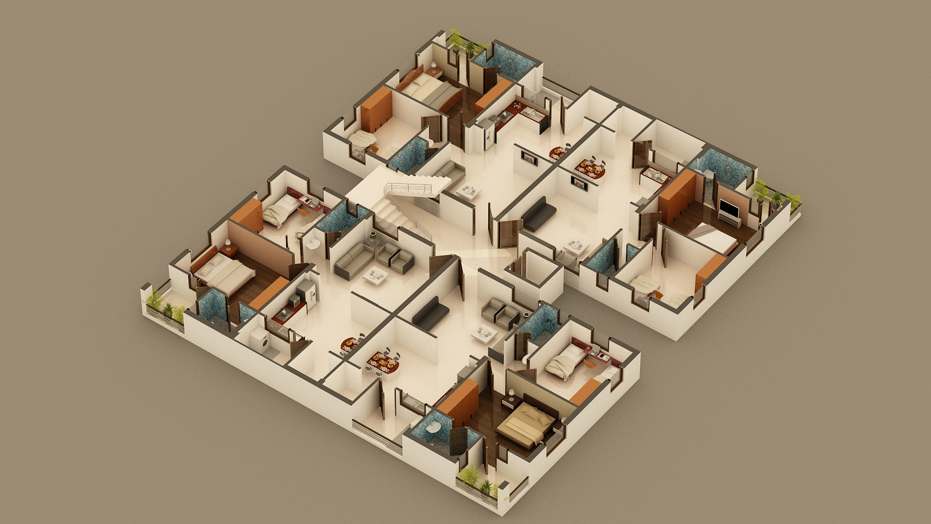 3D Isometric/Floor Plan View | Freelancers 3D