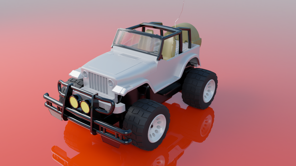 Jeep car toy (remote control) 3D model
