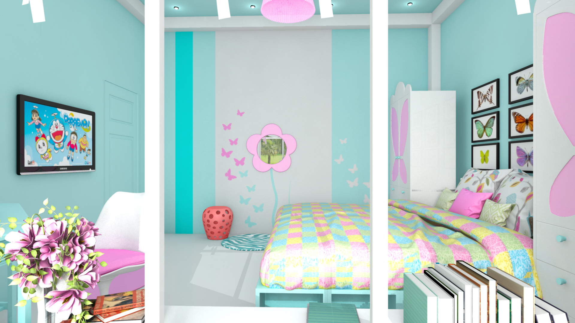 Interior Design ( Young Girl Bedroom ) 3D Model