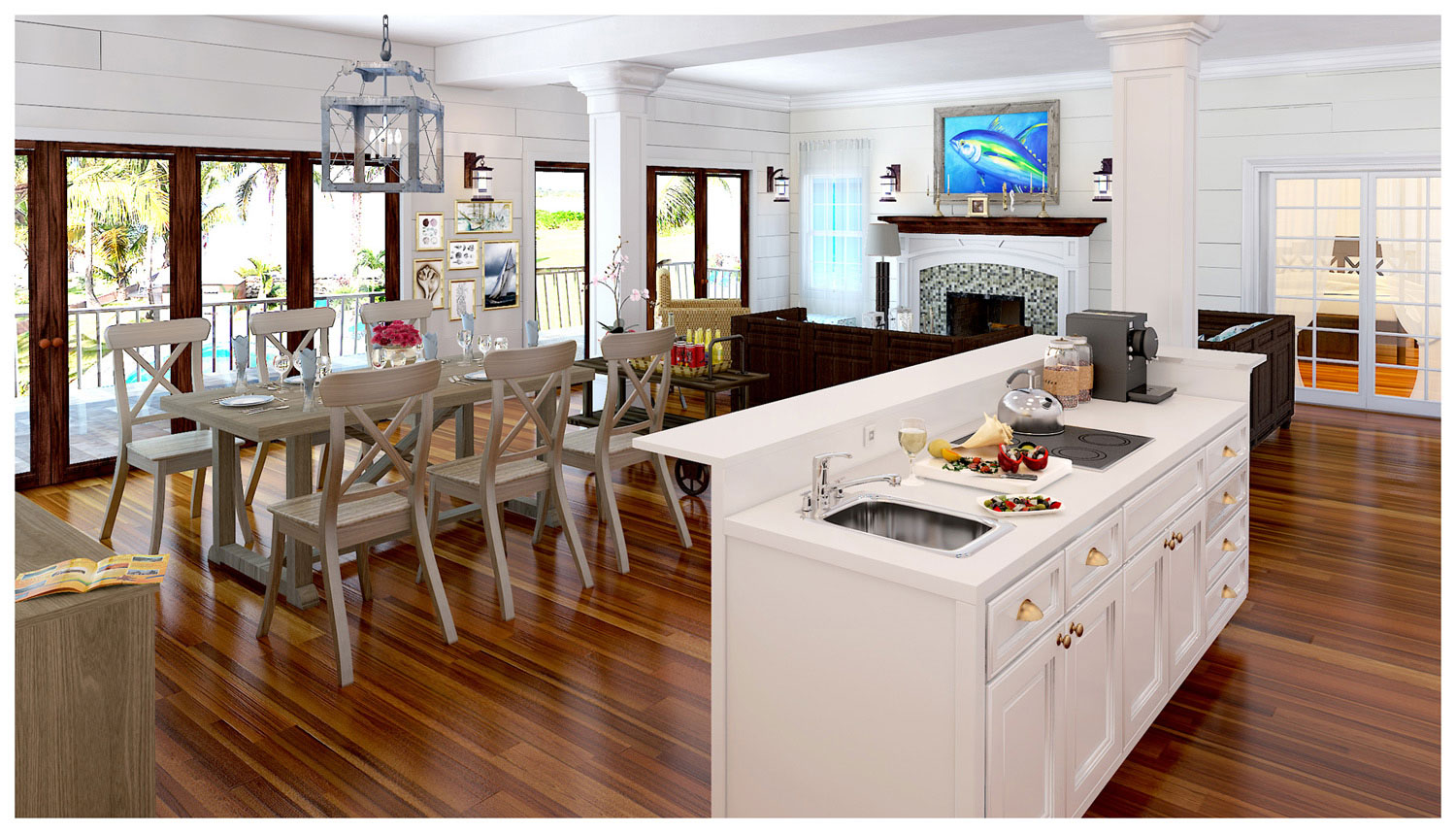 Kitchen Visualization 3D model - For Kitchen for Jonathan,The Bahamas