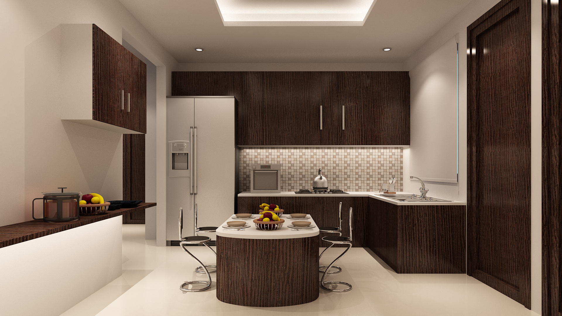 3d Interior Kitchen View Freelancers 3d
