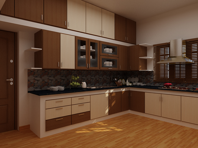 Modern Kitchen 3d Model my works | freelancers 3d