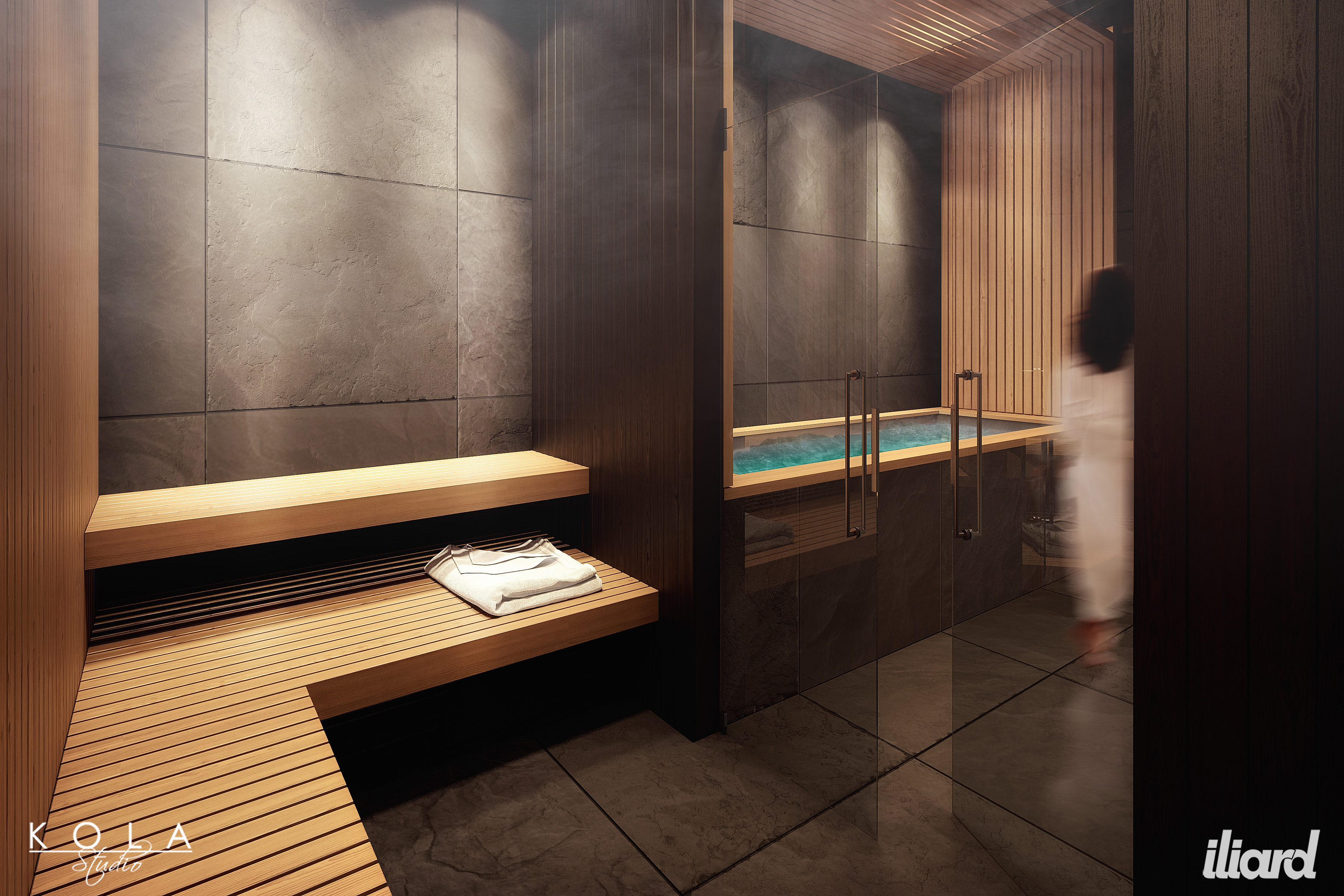 spa & fitness zone in a hotel | freelancers 3d