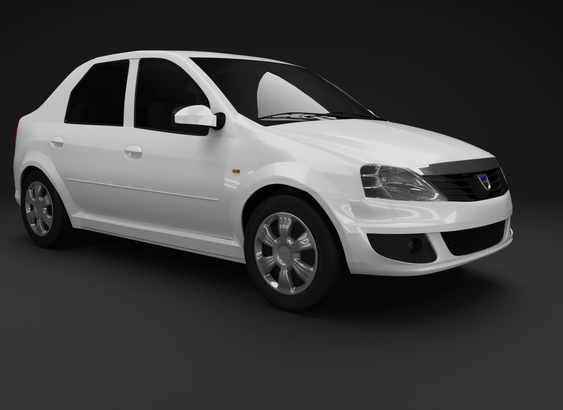 Dacia Logan 3D model and render 3D model