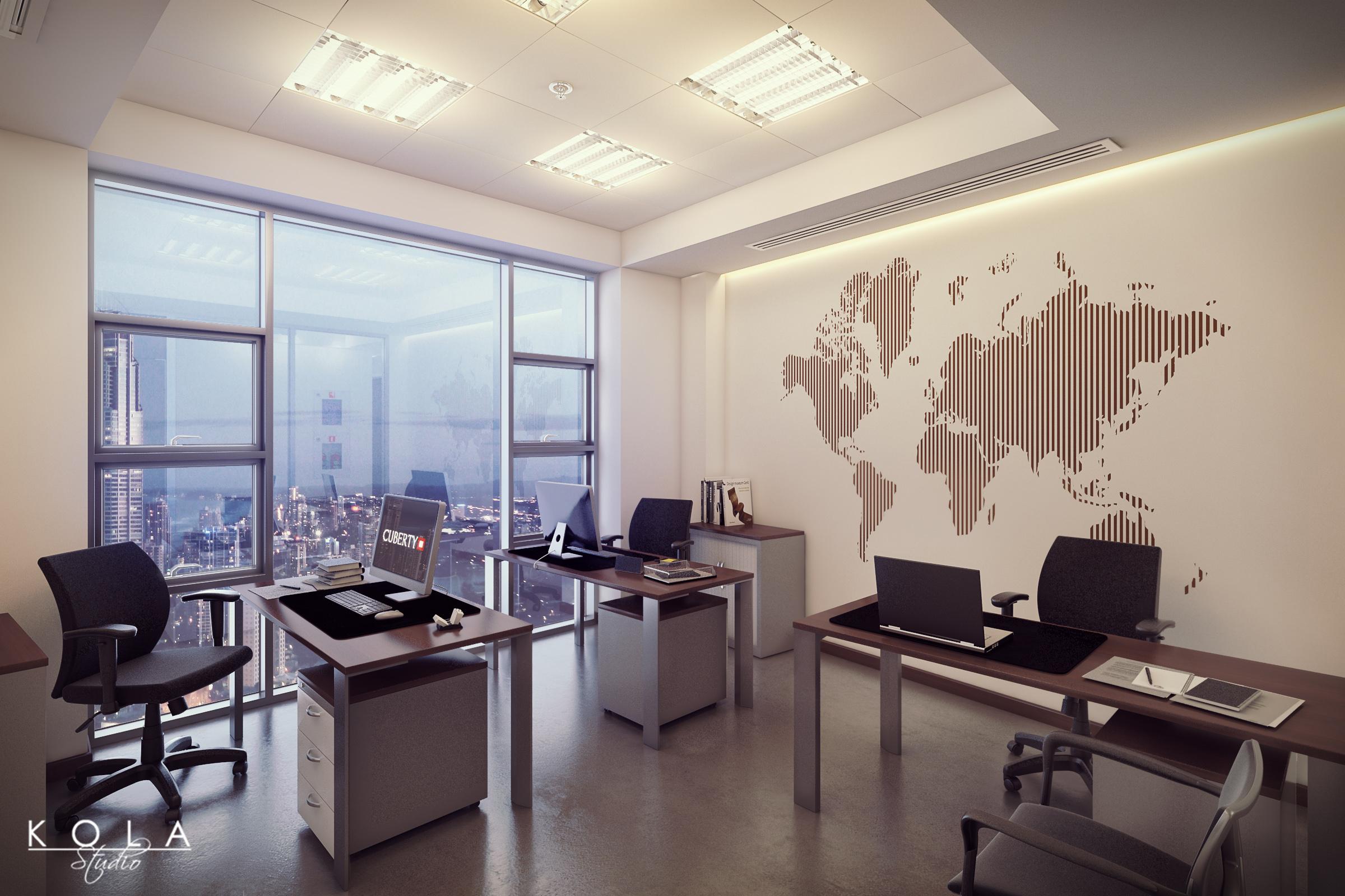 Office interiors in Khobar, Saudi Arabia | Freelancers 3D