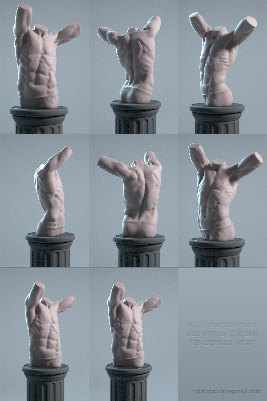 Digital Sculpting Studies | Freelancers 3D