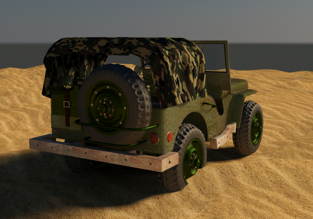 military jeep 3D model