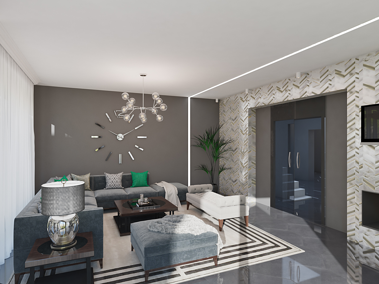 Visualization Of A Modern Living Room Freelancers 3d