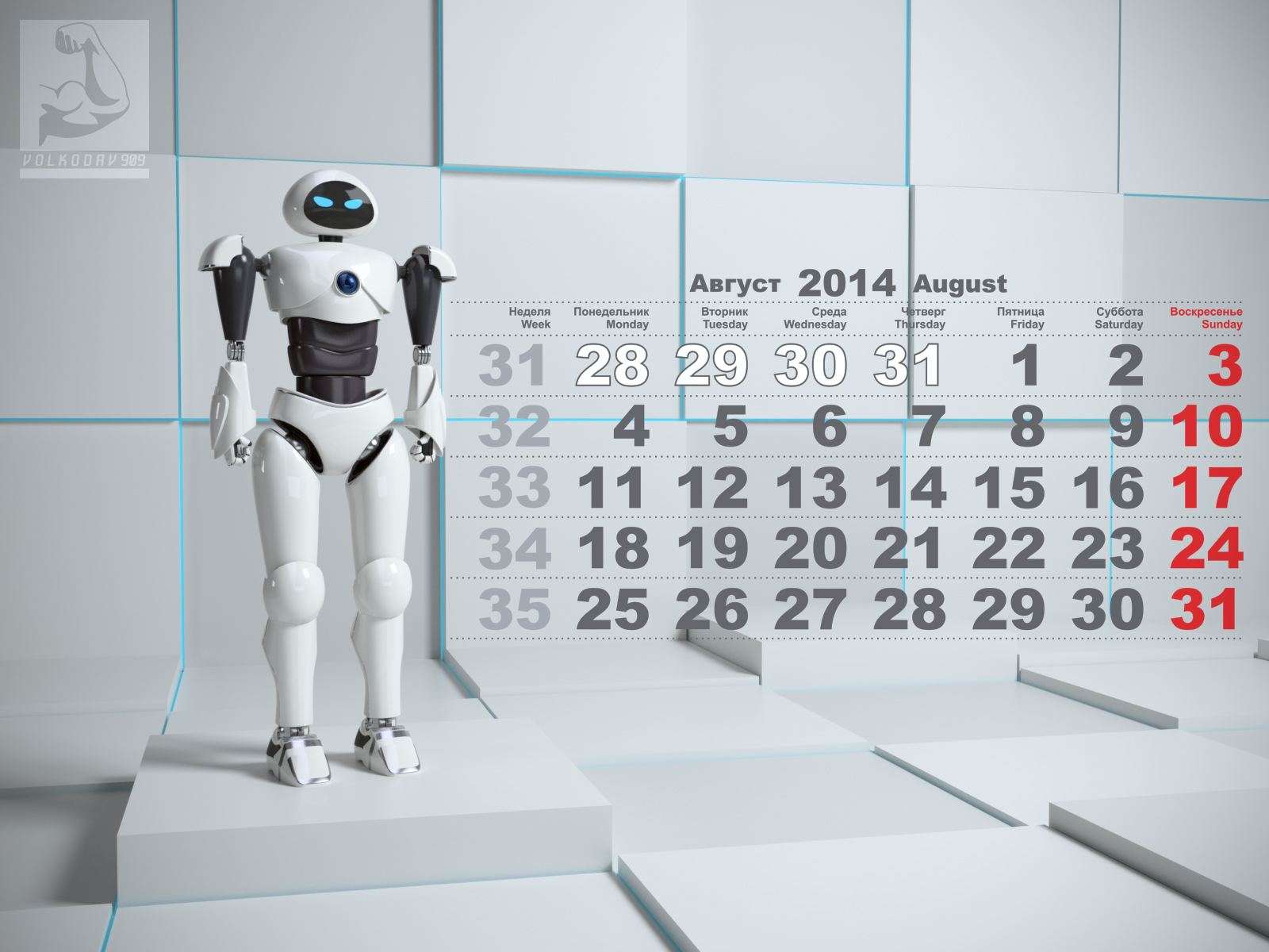 August. Eva the robot 3D model