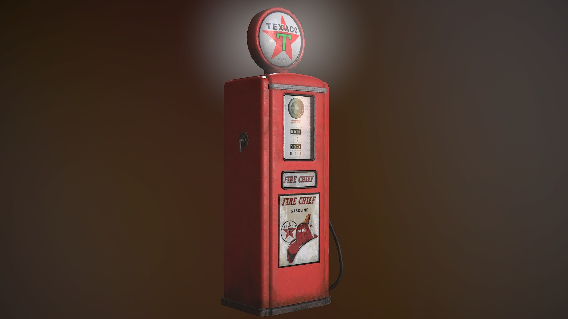 Old Gas pump 3D model