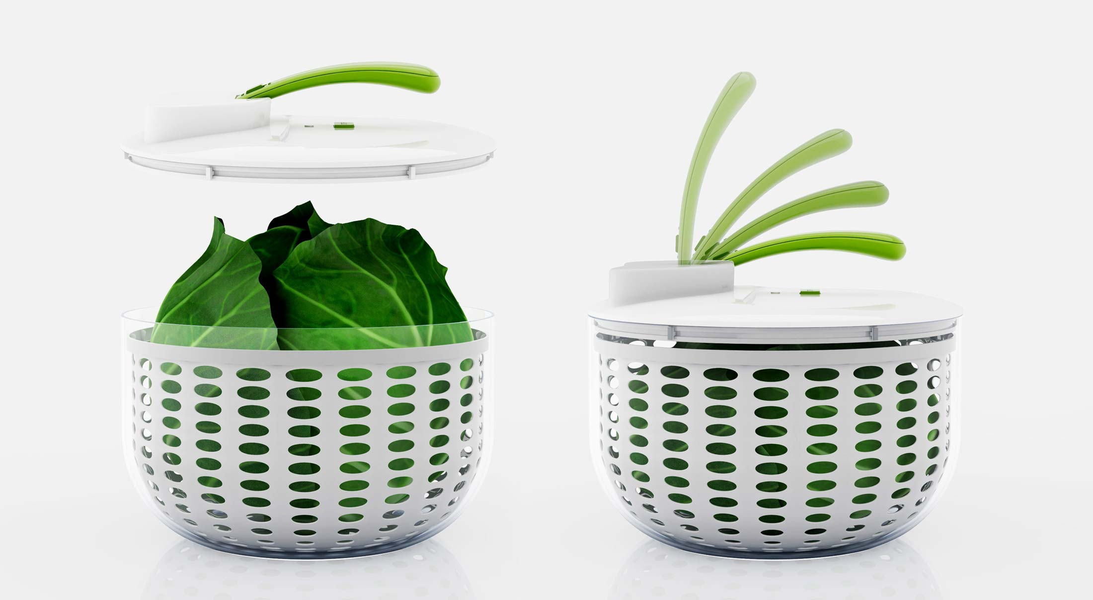 Showcasing Product Visualization here 3D model - Salad Spinner
