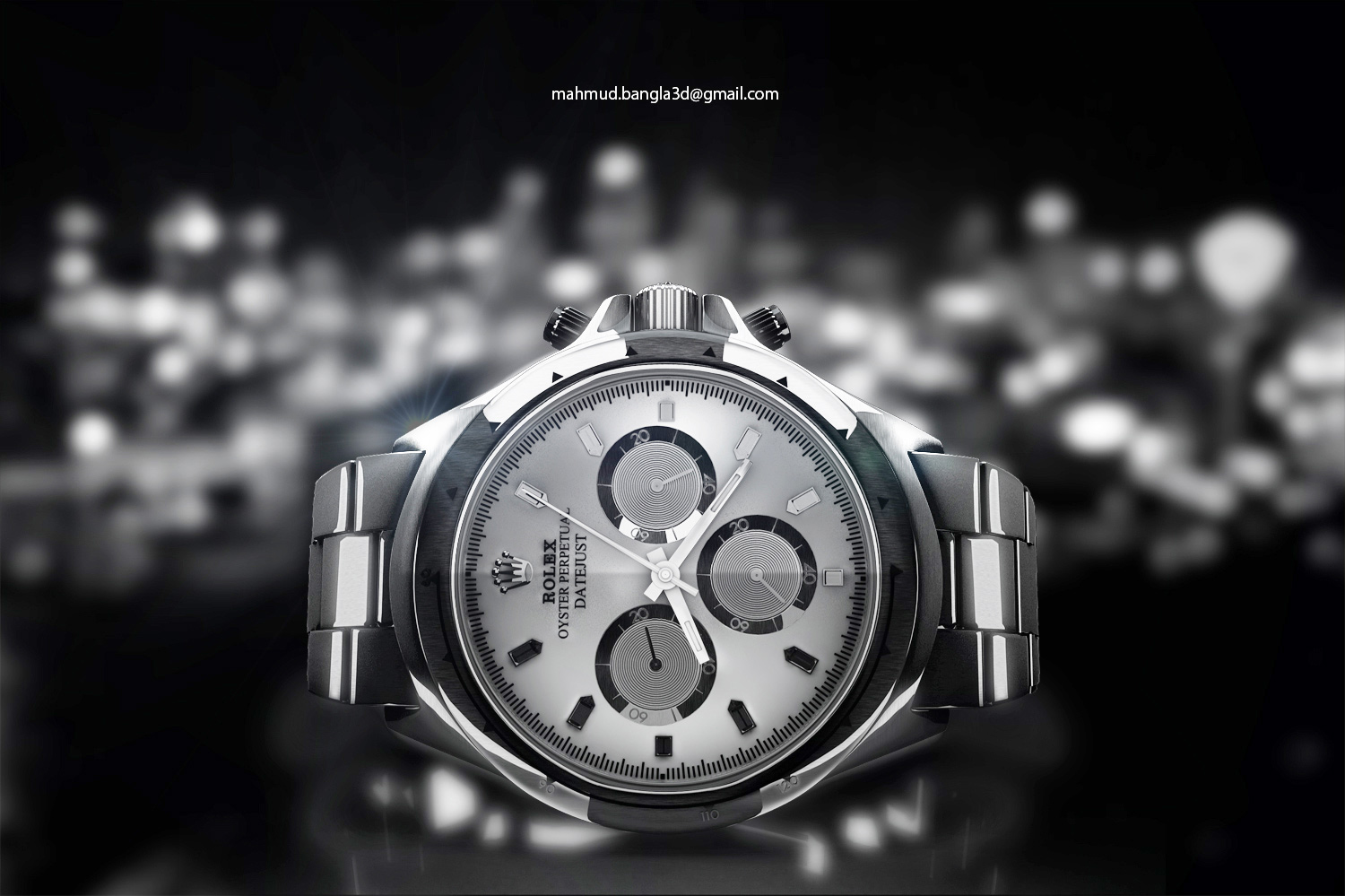 Showcasing Product Visualization here 3D model - Watch Model I did to take part in a contest