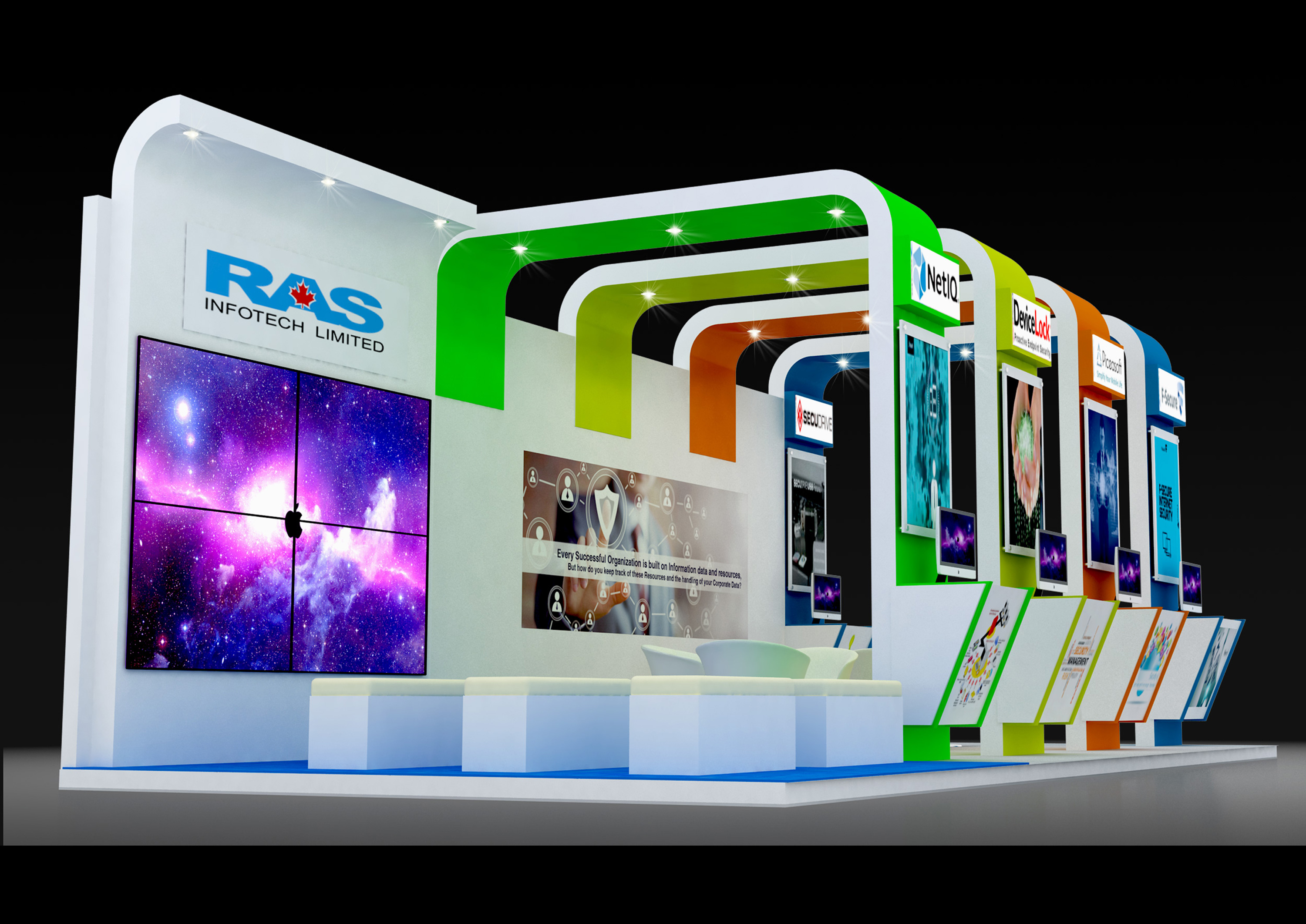Exhibition Stand 3d Model : Exhibition stand freelancers 3d